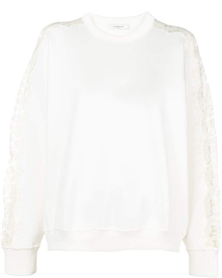 Givenchy lace-embroidered fitted sweater