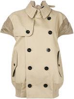 Sacai trench jacket - women - Cotton/Polyester - 2