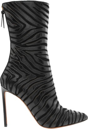 Francesco Russo Suede-paneled Leather Ankle Boots