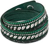 Swarovski Silver-Tone Slake Pulse Crystal Colored Wrap Bracelet