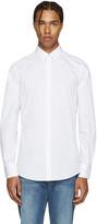 Dolce & Gabbana White Poplin Gold Shirt