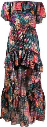 Dundas Off-Shoulder Floral Dot Dress