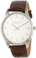 Johan Eric Men's JE9000-04-001 Helsingor Dial Brown Leather Watch