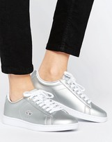 Lacoste Carnaby Evo Metallic Silver Sneakers