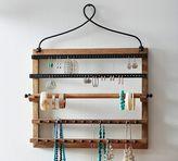 Pottery Barn Pine & Iron Wall-Mounted Jewelry Hanger