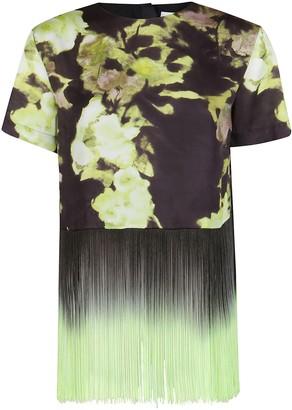 MSGM Floral Fringed T-Shirt