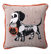 Home Collection By Seasons Designs Beaded/Jeweled Skeleton Dog Pillow