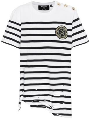 Puma x Balmain striped cotton T-shirt