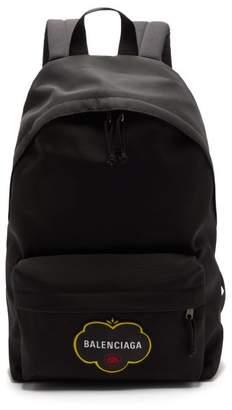 Balenciaga Explorer Logo-applique Canvas Rucksack - Mens - Black