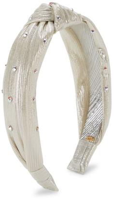 Bari Lynn Metallic Knotted Crystal Headband