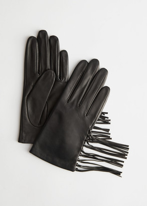 And other stories Fringe Tassel Soft Leather Gloves