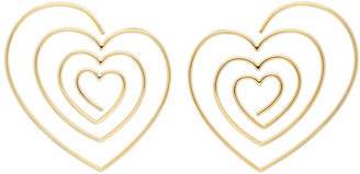 Y/Project Gold Heart Hoop Earrings