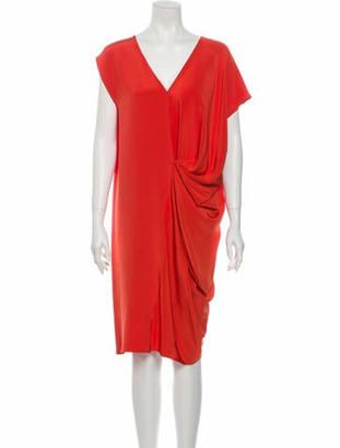 Zero Maria Cornejo Silk Midi Length Dress Red