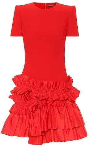 Alexander McQueen Ruffled crêpe dress