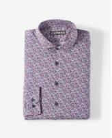 Express modern fit small floral dress shirt