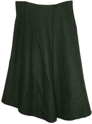 Porsche Design Green Wool Skirt for Women