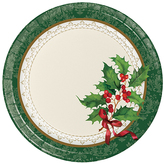 Holiday Traditions Dessert Plates - Set of 24