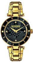 Versus By Versace Women's SP8110014 Logo Gold/Black Stainless Steel Watch