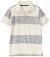 Crazy 8 Speckle Stripe Polo