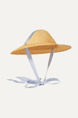 CLYDE Adriatic Cotton-trimmed Straw Hat - Lilac