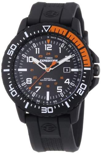 Timex Expedition Men's T49940 Quartz Watch with Black Dial Analogue Display and Black Resin Strap