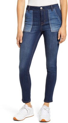 1822 Denim Colorblock Skinny Jeans