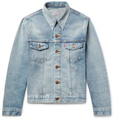 Levi's 1967 Type III Slim-Fit Contrast-Stitched Distressed Denim Jacket