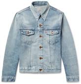 Levi's 1967 Type III Slim-Fit Contrast-Stitched Distressed Denim Jacket