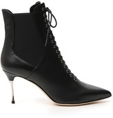 Sergio Rossi Pointed Toe Lace-Up Boots