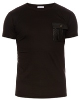 Tomas Maier Leatherette-patch Cotton T-shirt