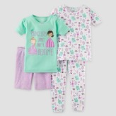 Just One You made by carter Toddler Girls' 4pc Snug Fit Cotton Pajama Set - Just One You Made by Carter's® Purple/Green