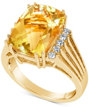 Macy's Citrine (7 ct. t.w.) & Diamond (1/5 ct. t.w.) Ring in 14k Gold