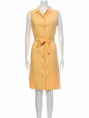 Oscar de la Renta Knee-Length Dress Yellow