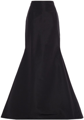 Carolina Herrera Flared Silk-faille Maxi Skirt