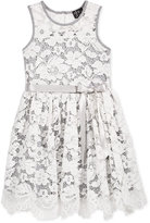 Pink & Violet Sleeveless Lace Dress, Toddler & Little Girls (2T-6X)