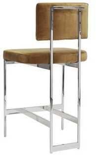 """Worlds Away 26"""" Counter Stool Color: Nickel"""