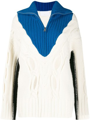 Zadig & Voltaire Zadig&Voltaire colour blocked knitted jumper