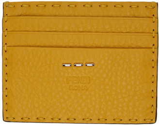 Fendi Yellow Selleria Card Holder
