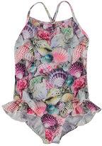 Molo Noona One-Piece Seashell Swimsuit, Multicolor, Size 9M-12