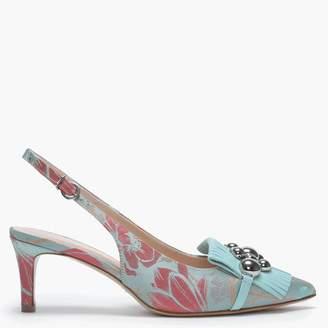 Daniel Luner Multicoloured Floral Embellished Sling Back Heels
