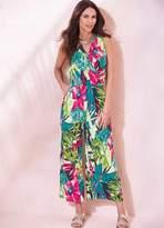 Kaleidoscope Tropical Print Jumpsuit