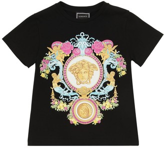 Versace Printed Cotton Jersey T-shirt
