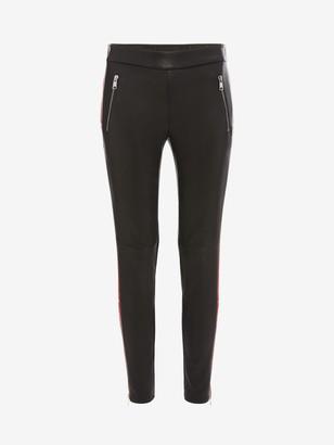 Alexander McQueen Leather Stripe Trouser