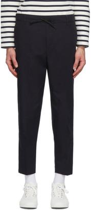 MAISON KITSUNÉ Navy City Trousers