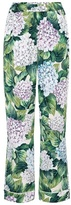 Dolce & Gabbana Printed stretch-silk trousers