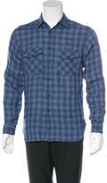 Billy Reid Plaid Linen Shirt w/ Tags