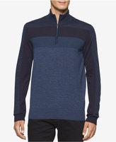 Calvin Klein Men's Merino Colorblocked Quarter-Zip Sweater