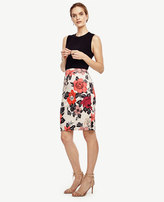 Ann Taylor Tall Sundrenched Floral Pencil Skirt