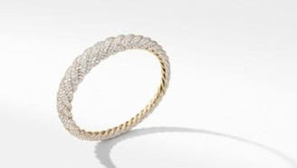 David Yurman Pure Form Cable Diamond Bracelet In 18K Gold, 9.5Mm