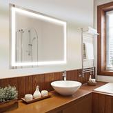 Dyconn Edison 72 in. x 35 in. LED Wall Mounted Backlit Vanity Bathroom LED Mirror with Touch On/Off Dimmer